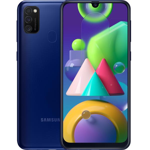 Смартфон Samsung Galaxy M21 4 64Gb Blue смартфон samsung galaxy a21s 4 64gb синий