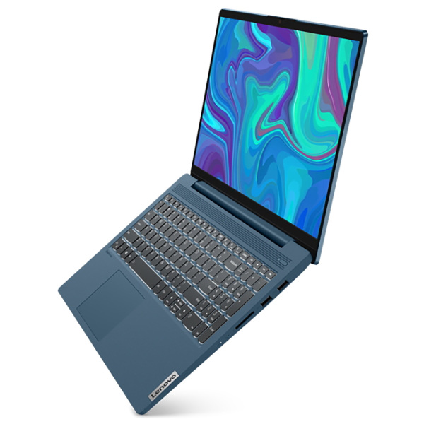 Ноутбук Lenovo IdeaPad IP5 15IIL05 Core i5 1035G1 8Gb SSD256Gb Intel UHD Graphics 15.6 IPS FHD (1920x1080) Windows 10 turquoise WiFi BT Cam
