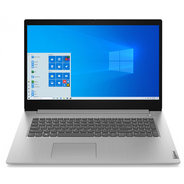 Ноутбук Lenovo IdeaPad IP3 17IML05 Core i3 10110U 4Gb 1Tb SSD128Gb Intel UHD Graphics 17.3 IPS FHD 1920x1080 Windows 10 grey WiFi BT Cam