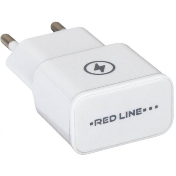 Фото - Сетевое зарядное устройство Red Line NT-1A Белое сетевое зарядное устройство continent zn10 194rd 1a usb красный