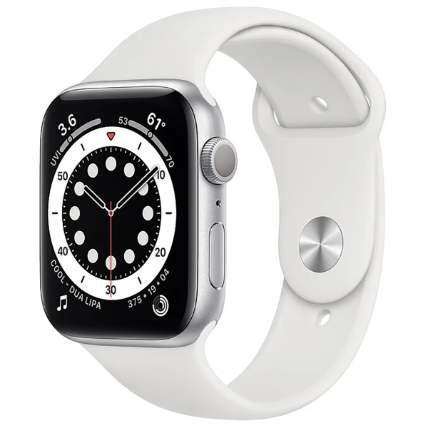 Apple Watch Series 6 GPS 44mm Aluminum Case with Sport Band White