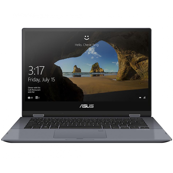 "Трансформер Asus VivoBook TP412FA-EC518T Pentium 5405U 4Gb SSD128Gb Intel UHD Graphics 14"" Touch FHD (1920x1080) Windows 10 grey WiFi BT Cam"