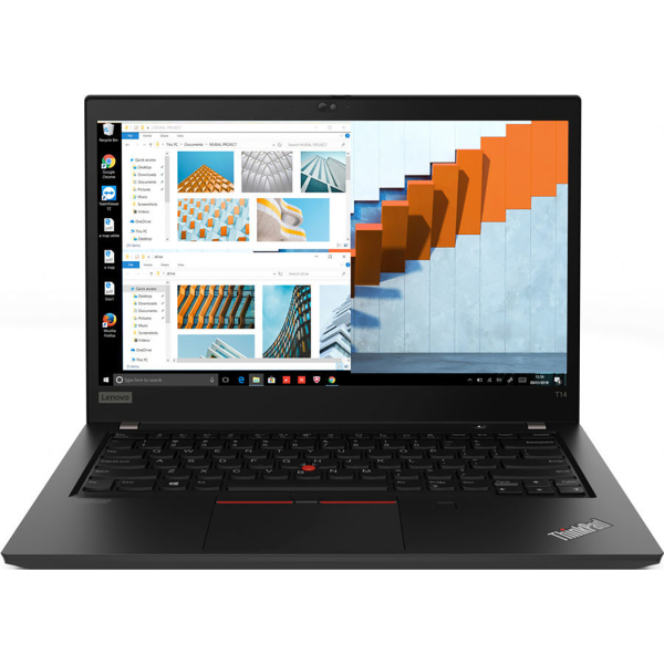 "Ноутбук Lenovo ThinkPad T14 G1 T Core i7 10510U 16Gb SSD512Gb Intel UHD Graphics 14"" WVA FHD (1920x1080) Windows 10 Professional black WiFi BT Cam"