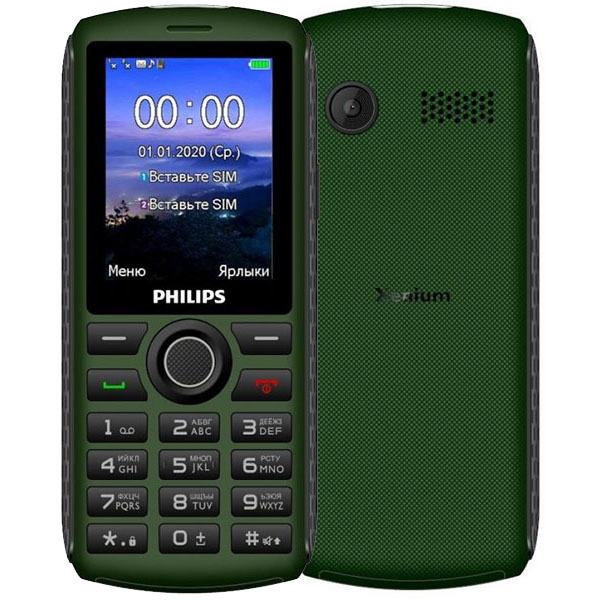 Фото - Телефон Philips Xenium E218 Green сотовый телефон philips e218 xenium dark grey