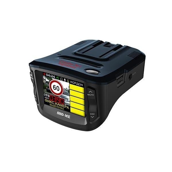 Видеорегистратор с радар-детектором Sho-Me Combo №1 Signature GPS Черный видеорегистратор с радар детектором artway md 108 signature 3 в 1 super fast gps черный