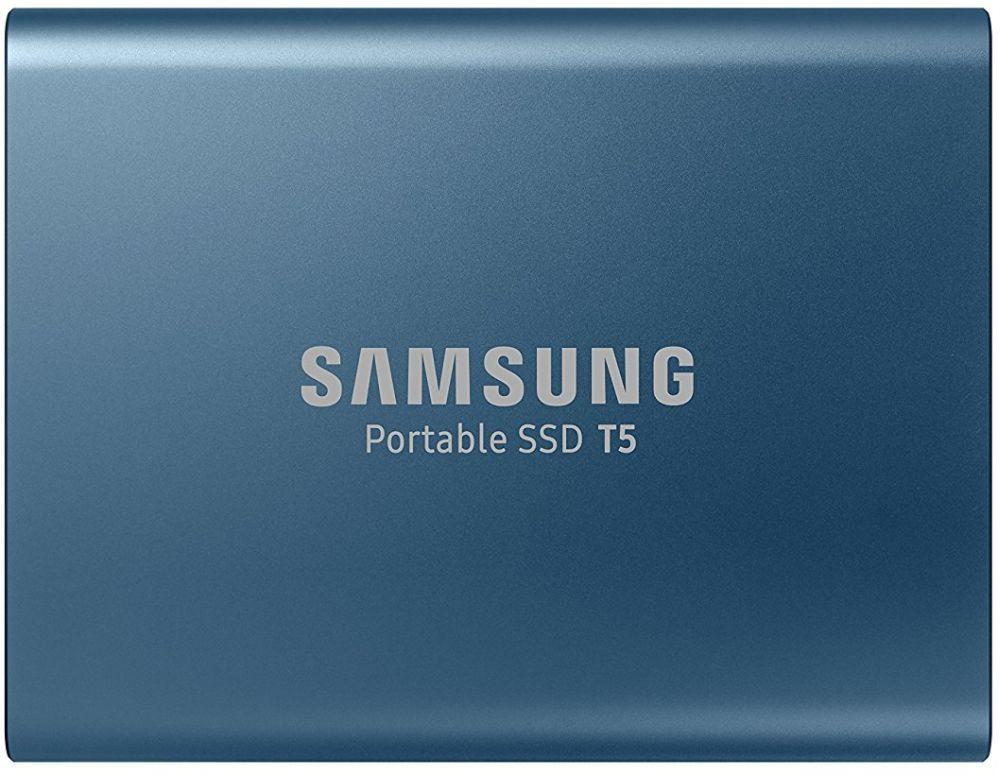 Внешний жесткий диск(HDD) Samsung SSD Portable T5 500 Гб Синий