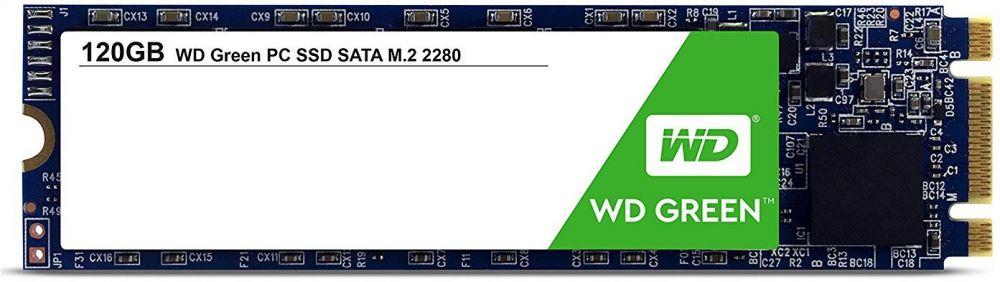 Твердотельный накопитель(SSD) Western Digital SSD накопитель WD Green PC SSD 120 GB (WDS120G2G0B)