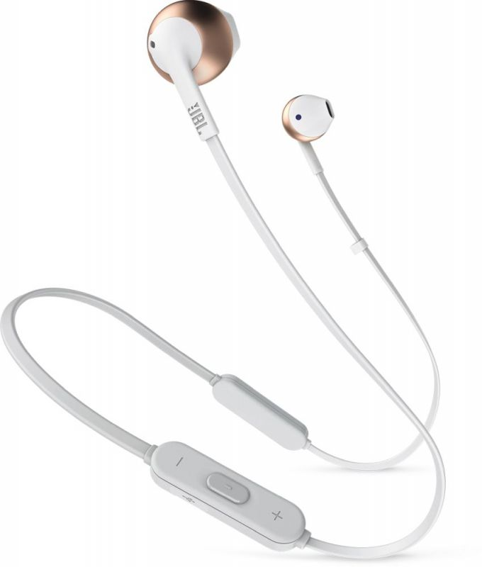 Фото - Bluetooth-наушники с микрофоном JBL Наушники с микрофоном T205BT Розово золотые гарнитура jbl t205bt lifestyle bluetooth вкладыши синий [jblt205btblu]