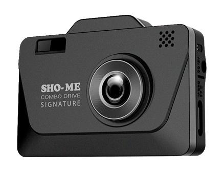 Видеорегистратор с радар-детектором Sho-Me Combo Drive Signature GPS Черный видеорегистратор с радар детектором artway md 108 signature 3 в 1 super fast gps черный
