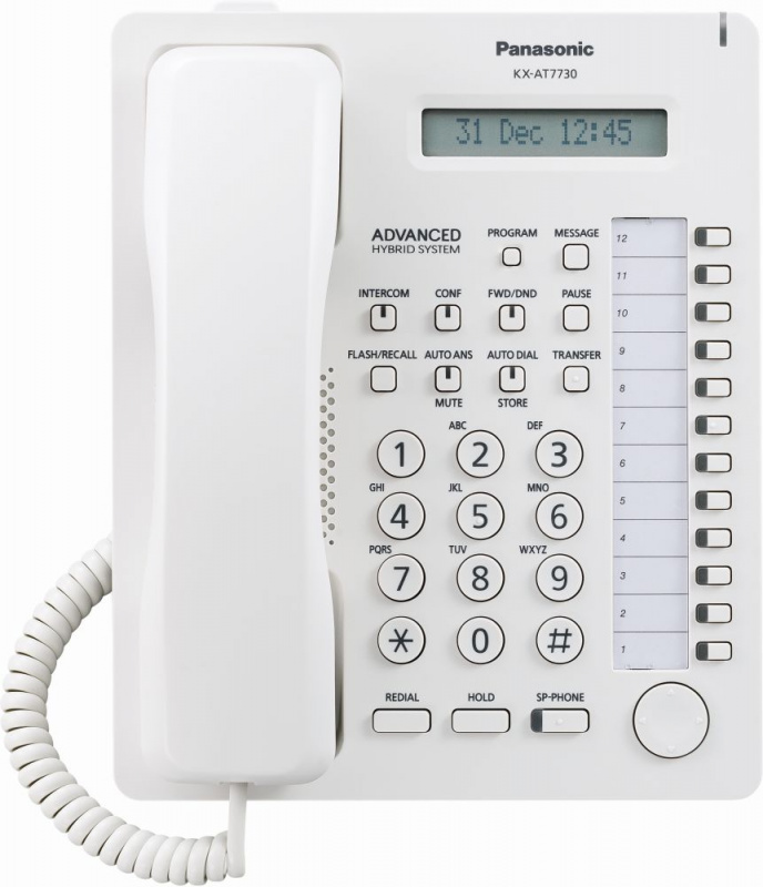 Системный телефон KX-AT7730RU Белый фото