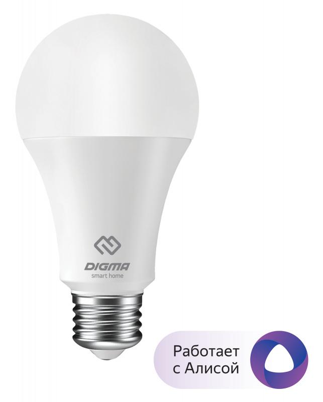 Умная лампа Digma DiLight E27 W1 E27 8Вт
