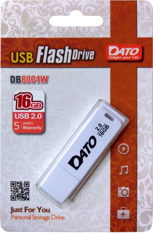 Карта памяти Dato Флешка DB8001 16Gb Белая