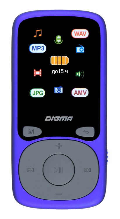 Плеер Digma Hi-Fi Flash B4 8Gb Синий