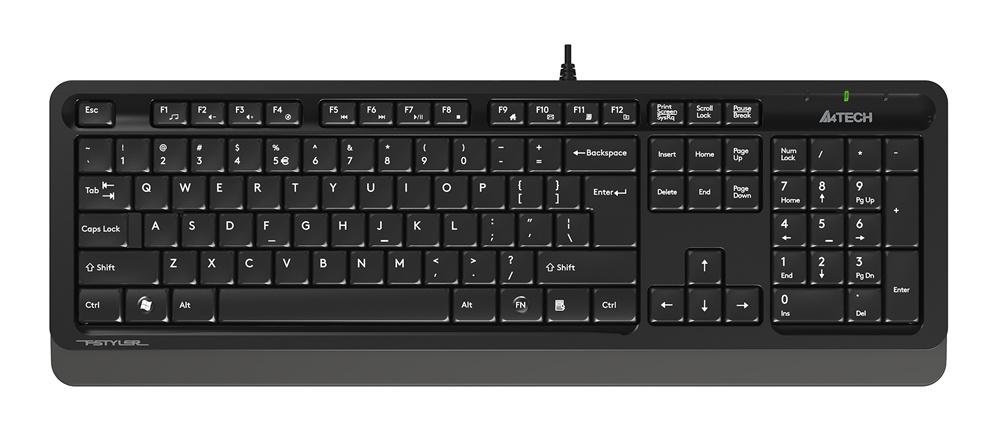 Клавиатура A4Tech Fstyler FK10 Black Grey USB