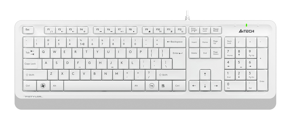 Клавиатура A4Tech Fstyler FK10 White Grey USB