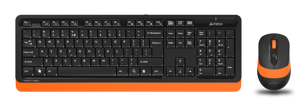 Клавиатура и мышь A4Tech Fstyler FG1010 Black Orange