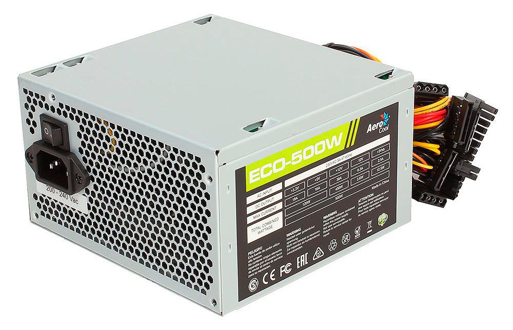 Блок питания Aerocool ATX 500W Eco (ECO-500)