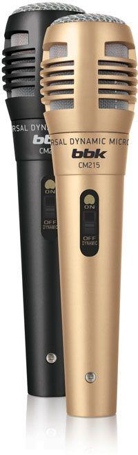 Микрофон BBK CM215 Черный шампань