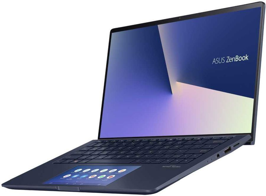 "Ультрабук Asus Zenbook UX534FTC-AA196T Core i5 10210U 8Gb SSD256Gb NVIDIA GeForce GTX 1650 MAX Q 4Gb 15.6"" IPS UHD (3840x2160) Windows 10 blue WiFi BT Cam"