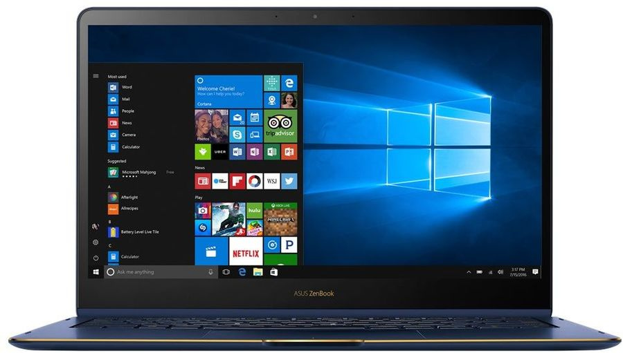 "Трансформер Asus ZenBook Flip S UX370UA-C4201T Core i7 8550U 16Gb SSD512Gb Intel UHD Graphics 620 13.3"" Touch FHD (1920x1080) Windows 10 blue WiFi BT Cam Bag"