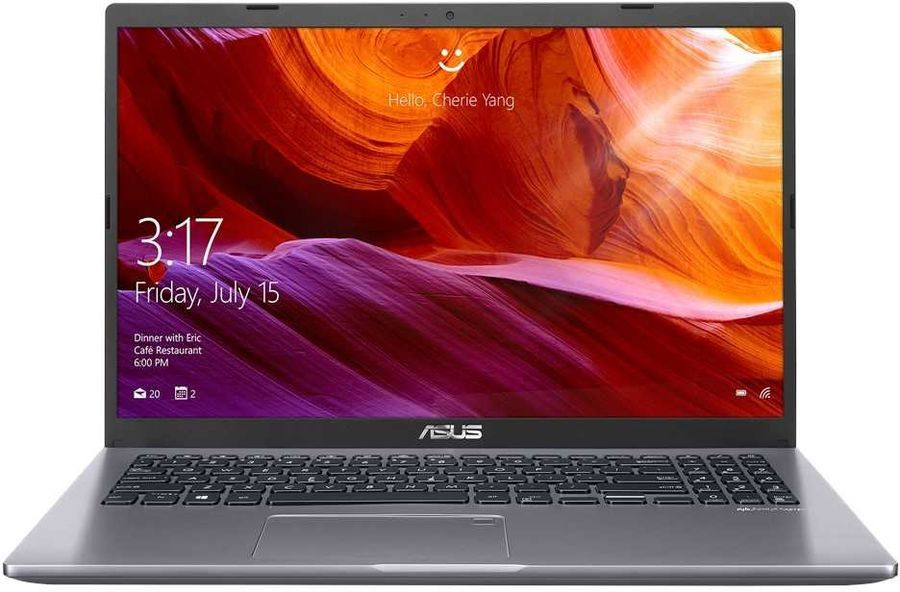 Ноутбук Asus VivoBook X509FA EJ070T Core i3 8145U 8Gb SSD256Gb Intel UHD Graphics 620 15.6 FHD 1920x1080 Windows 10 grey WiFi BT Cam