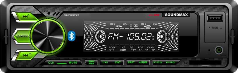 Автомагнитола Soundmax SM CCR3183FB