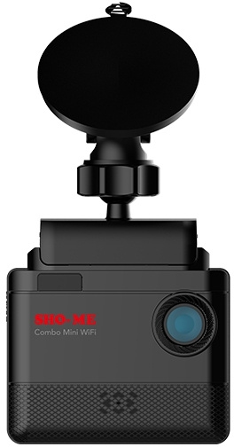 Видеорегистратор Sho-Me с радар-детектором Combo Mini WiFi GPS Глонасс Черный