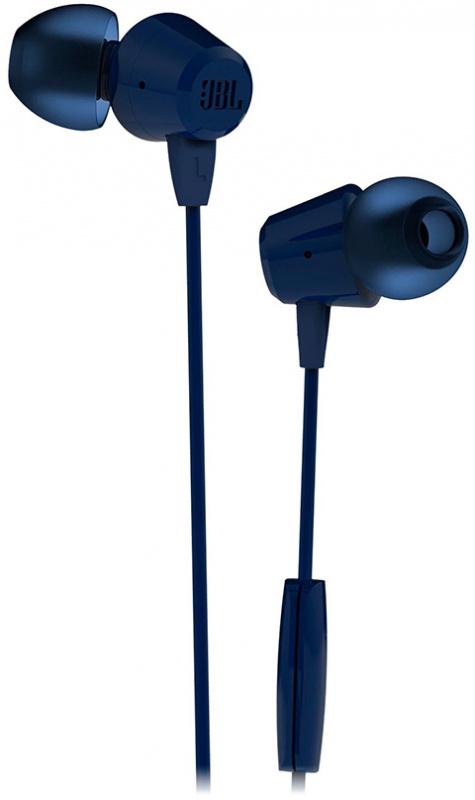 Фото - Наушники JBL C50HI Синие наушники с микрофоном jbl c50hi 3 5 мм вкладыши черный [jblc50hiblk]