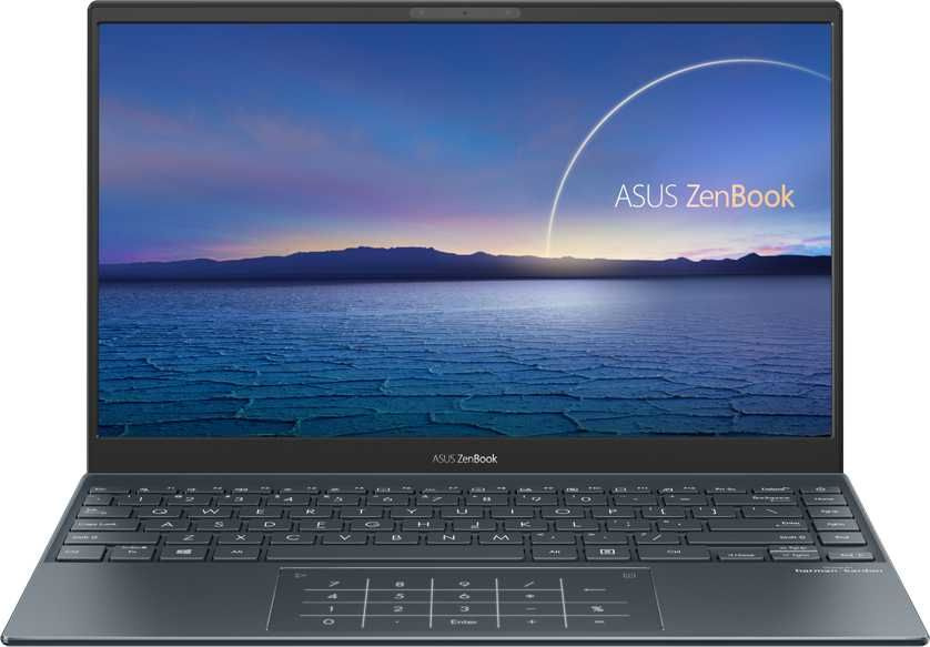 "Ноутбук Asus Zenbook UX325JA-EG109T Core i5 1035G1 8Gb SSD256Gb Intel UHD Graphics 13.3"" IPS FHD (1920x1080) Windows 10 grey WiFi BT Cam"