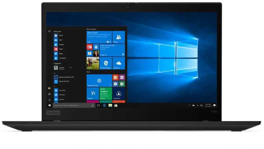 "Ноутбук Lenovo ThinkPad T14s G1 T Ryzen 5 Pro 4650U 16Gb SSD256Gb AMD Radeon 14"" IPS FHD (1920x1080) Windows 10 Professional 64 black WiFi BT Cam"
