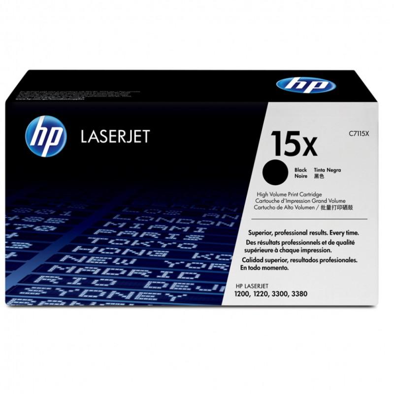 Картридж HP лазерный 15X C7115X черный (3500стр.) для LJ 1200 1220 1000W картридж nv print c7115x для hp lj 1200 1220