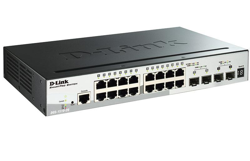 Коммутатор D-Link DGS 1510 20 A1A Черный коммутатор d link dgs 3130 30s a1a