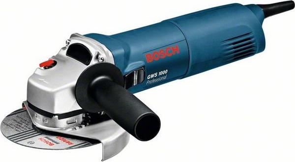 Шлифмашина угловая Bosch GWS 1000 1000Вт 125мм угловая шлифмашина bosch gws 26 230 lvi 0 601 895 f04
