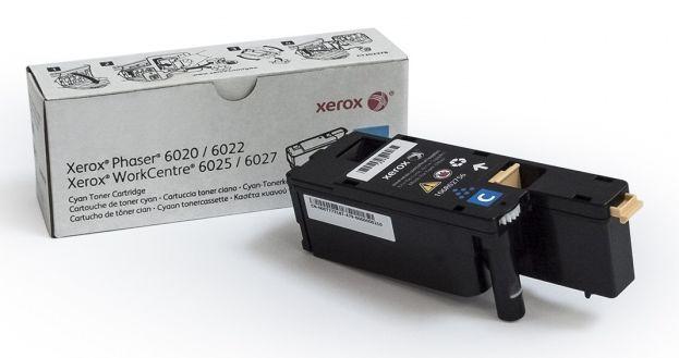 Картридж лазерный Xerox 106R02760 голубой (1000стр.) для Phaser 6020 6022 6025 6027