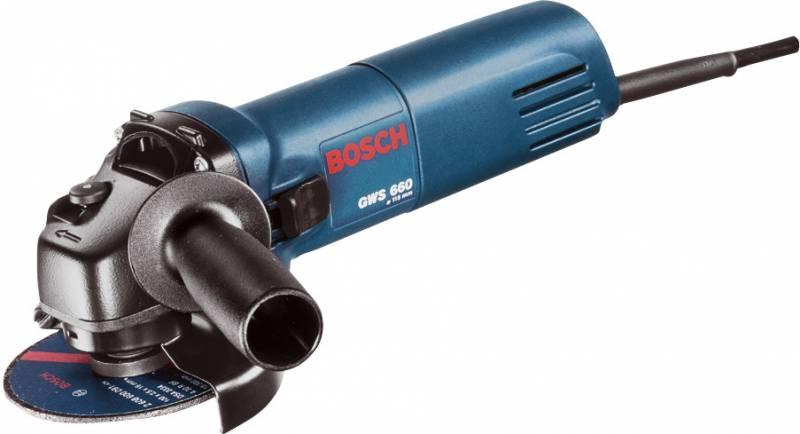 Шлифмашина угловая Bosch GWS 660 660Вт угловая шлифмашина bosch gws 26 230 lvi 0 601 895 f04