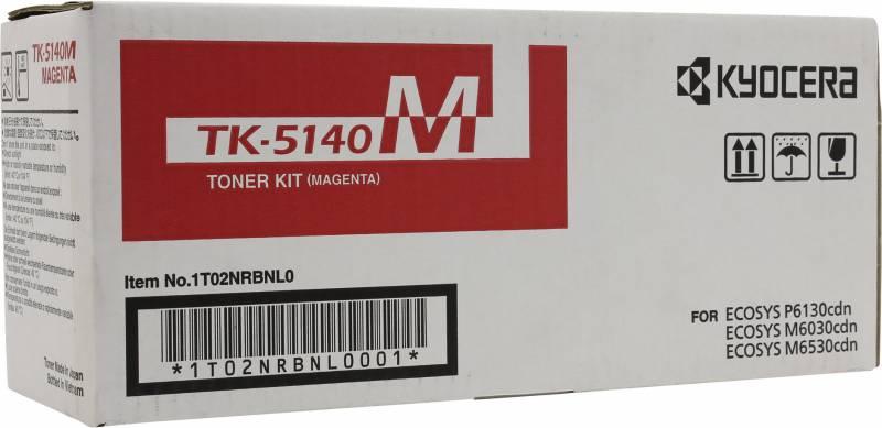 Картридж лазерный Kyocera 1T02NRBNL0 TK-5140M пурпурный (5000стр.) для Ecosys M6030cdn M6530cdn P6130cdn мфу kyocera ecosys m2235dn