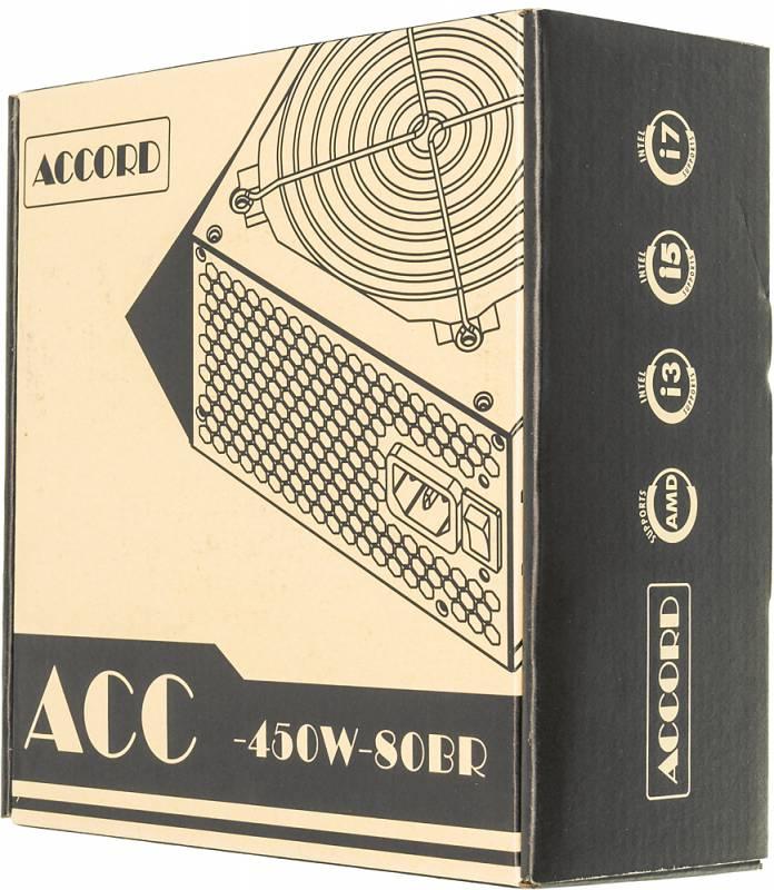 Блок питания Accord ATX 450W (ACC-450W-80BR) блок питания accord atx 450w acc 450 12
