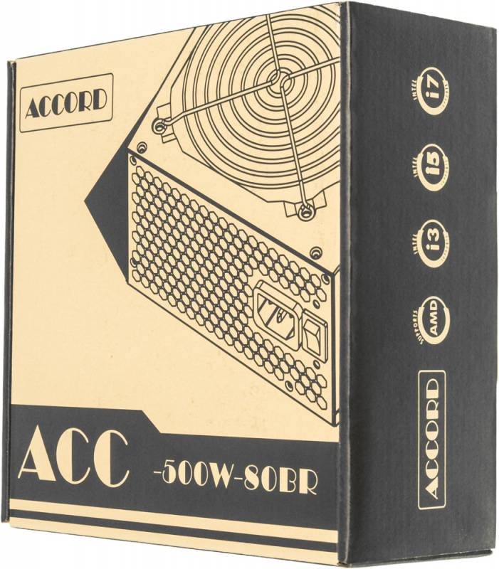 Блок питания Accord ATX 500W ACC-500W-80BR 80+ bronze