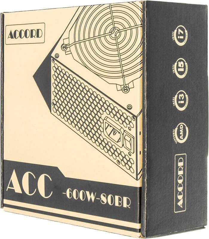 Блок питания Accord ATX 600W ACC-600W-80BR 80+ bronze