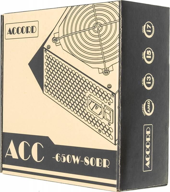 Блок питания Accord ATX 650W ACC-650W-80BR 80+ bronze