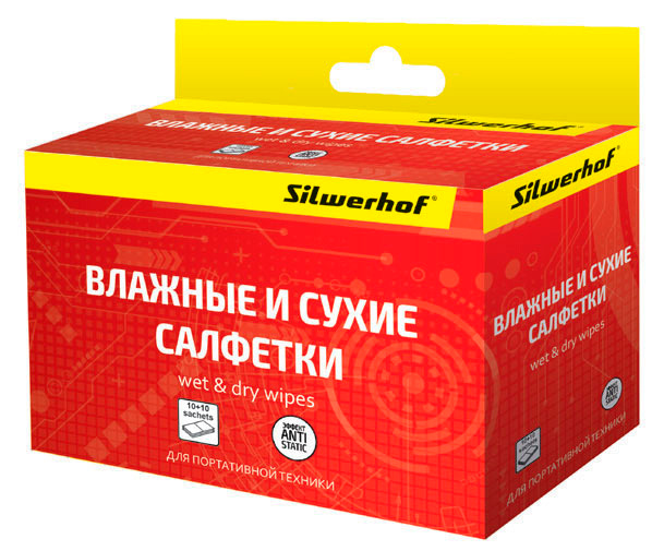 Чистящие средства Silwerhof Салфетки для планшетов и смартфонов
