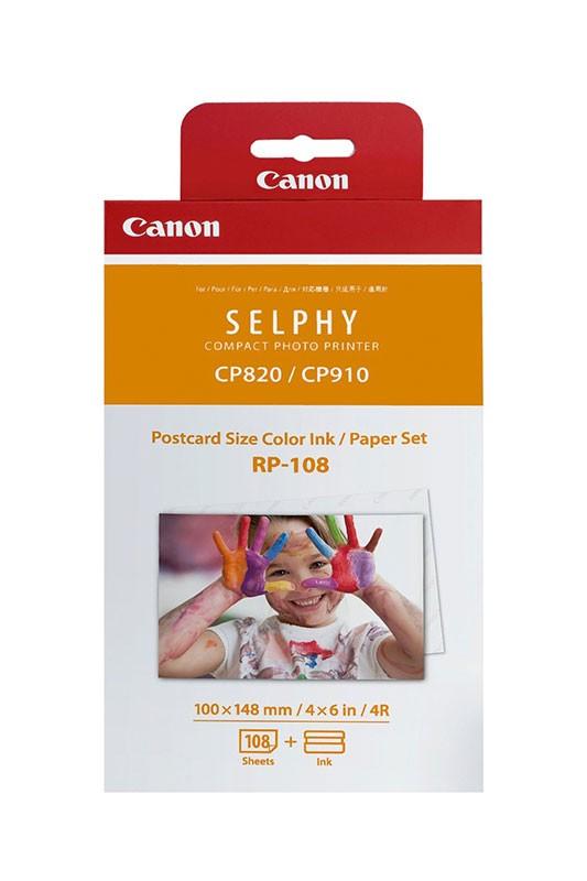 Набор для печати Canon RP-108 8568B001 10x15 108л. белый сублимационных принтеров