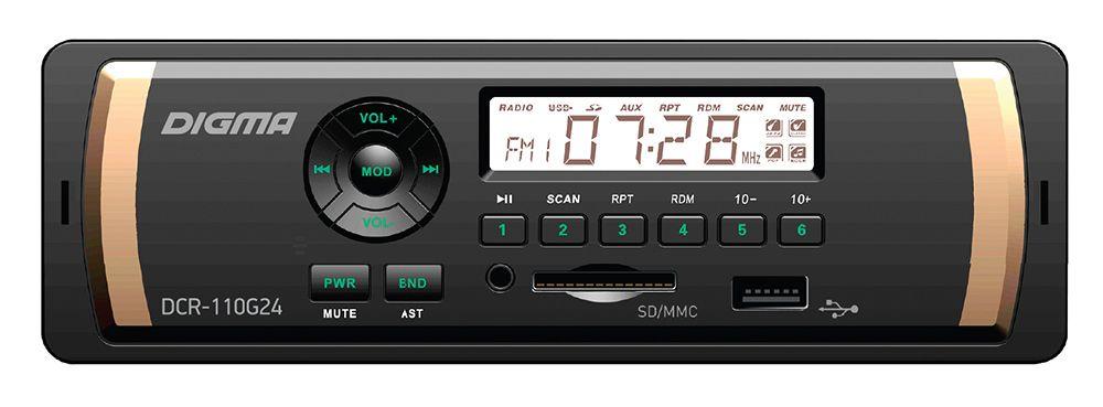 Автомагнитола Digma DCR 110G24