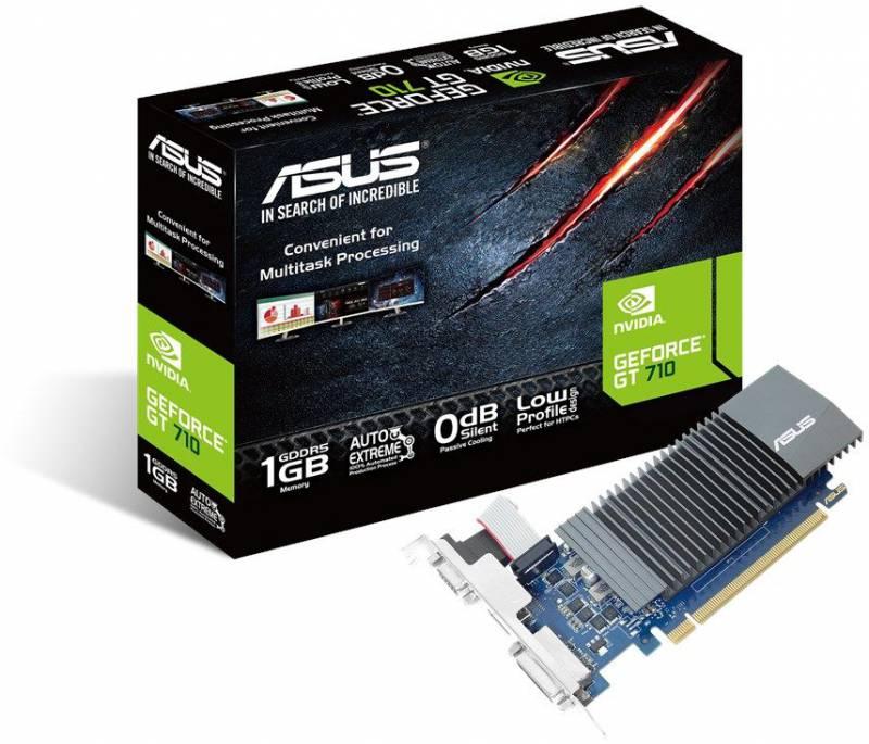 Видеокарта Asus GeForce GT 710 (GT710-SL-1GD5) видеокарта asus geforce gt 710 silent lp 2gb gt710 sl 2gd5 brk retail