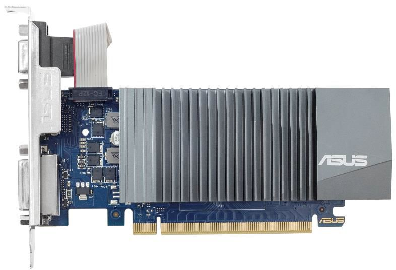 Видеокарта Asus GeForce GT 710 (GT710-SL-1GD5-BRK) видеокарта asus geforce gt 710 silent lp 2gb gt710 sl 2gd5 brk retail