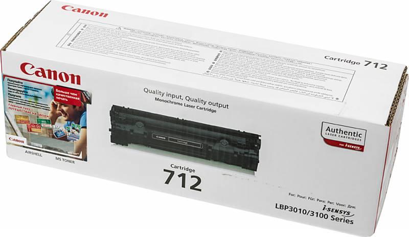 Картридж лазерный Canon 712 1870B002 черный (1500стр.) для LBP-3010 3020 тонер картридж canon 040hc 0459c001 голубой 10000стр для canon lbp 710 712