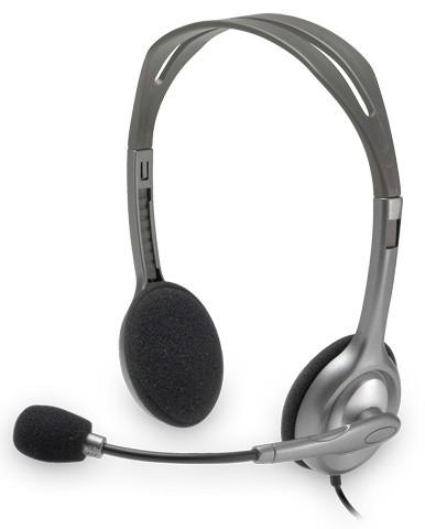 Гарнитура Logitech Stereo H110 Серебристый гарнитура