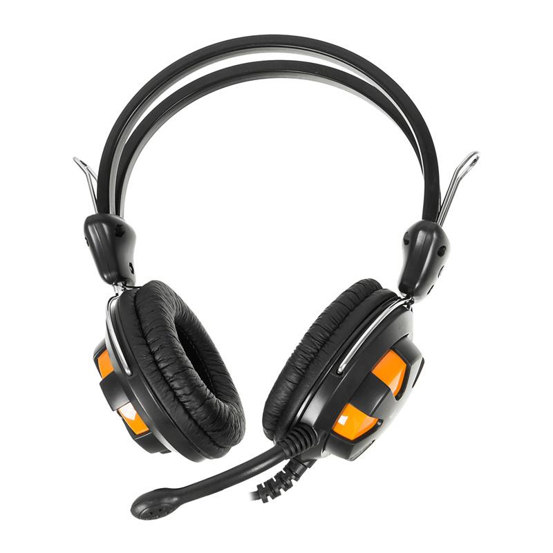 Гарнитура A4Tech A4 HS-28 Оранжевая черная гарнитура