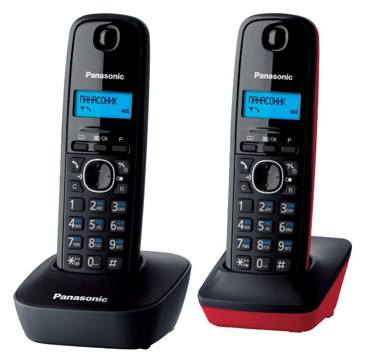 Фото - Радиотелефон Panasonic KX-TG1612 Красный радиотелефон alcatel smile grey
