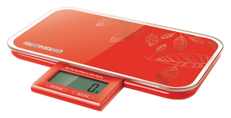 Кухонные весы Redmond RS-721 Красные кухонные весы tescoma accura 634512
